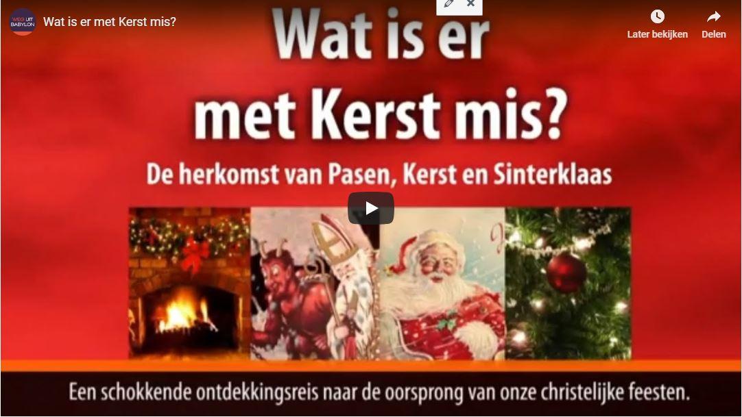 wat is er met kerst mis